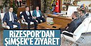 Çaykur Rizespor'dan Başkan Şimşek'e...