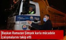 Başkan Şimşek'in Yoğun Kar Mesaisi