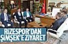 Çaykur Rizespor'dan Başkan Şimşek'e ziyaret