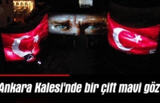 Ankara Kalesi'nde bir çift mavi göz