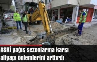 ASKİ yağış sezonlarına karşı altyapı önlemlerini...