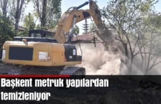 Çevre sağlığı için metruk yapılardan temizleniyor