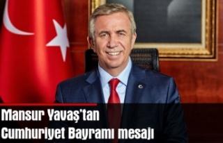 Mansur Yavaş Cumhuriyet Bayramı'nı kutladı