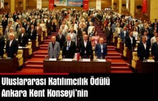 Uluslararası katılımcılık ödülü Ankara kent...