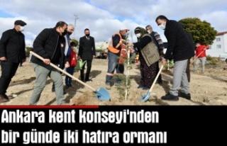 Ankara kent konseyi'nden bir günde iki hatıra...