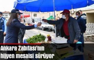 Ankara Zabıtası'nın hijyen mesaisi sürüyor