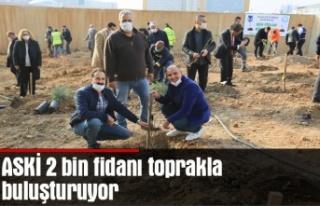 ASKİ 2 bin fidanı toprakla buluşturuyor