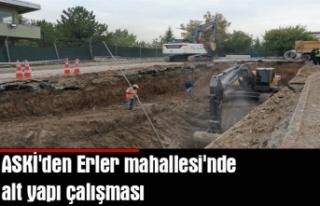 ASKİ'den Erler mahallesi'nde alt yapı...