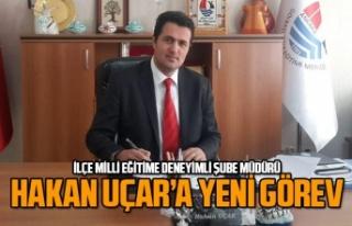 Hakan Uçar, İlçe Milli Eğitim Müdürlüğü'nde...