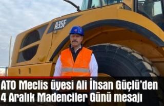 Ali İhsan Güçlü'den 4 Aralık mesajı
