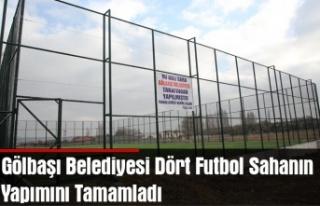 Gölbaşı Belediyesi Dört Futbol Sahanın Yapımını...