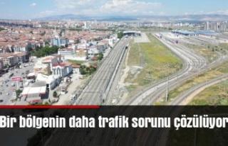 Bir bölgenin daha trafik sorunu çözülüyor