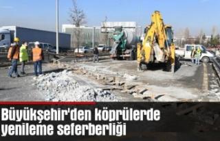Büyükşehir'den köprülerde yenileme seferberliği