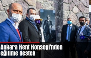 Ankara Kent Konseyi'nden eğitime destek