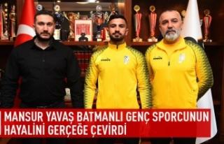 Mansur Yavaş Batmanlı genç sporcunun hayalini gerçeğe...