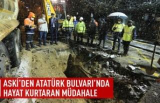 ASKİ'den Atatürk Bulvarı'nda hayat kurtaran...