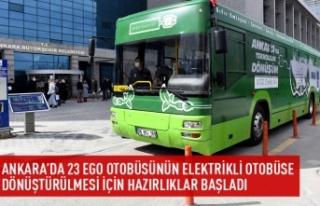 23 otobüsün elektrikli otobüse dönüştürülmesi...