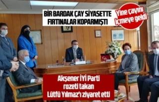 Akşener İYİ Parti rozeti takan Lütfü Yılmaz'ı...