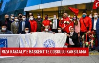 Rıza Kayaalp'e Ankara'da karşılama