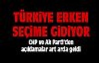 Ak Parti ve CHP'den ard arda açıklamalar
