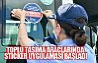 Ankara zabıtası toplu taşıma araçlarında sticker...