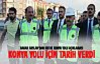 Bakan Arslan Konya Yolu alt geçit çalışmalarını...