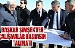 Başkan Şimşek, Mezbahane ve Kurban Kesim Merkezi...
