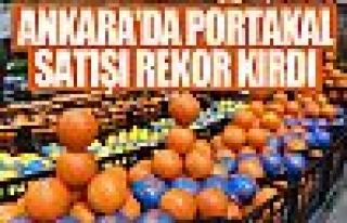 Başkent'te portakal satışları rekor kırdı!