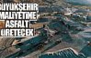 Büyükşehir'den asfalt üretim atağı