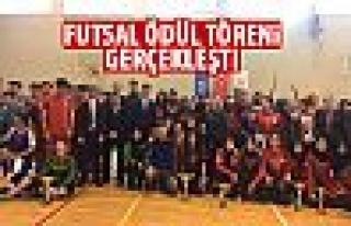 Futsal ödül töreni yapıldı