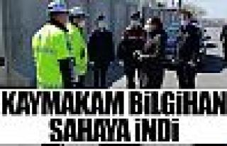 Kaymakam Tülay Baydar Bilgihan tedbirleri inceledi!