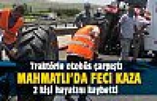 Mahmatlı'da feci kaza: 2 ölü