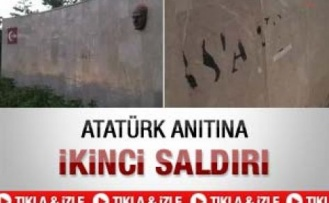 Sivas'ta Atatürk anıtına saldırı - Video