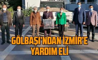Gölbaşı İl Hemşehri Dernekleri Platformu'ndan İzmir'e yardım eli
