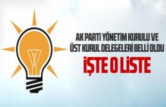 Ak Parti Yönetim Kurulu ve Üst Kurul delegeleri belli oldu