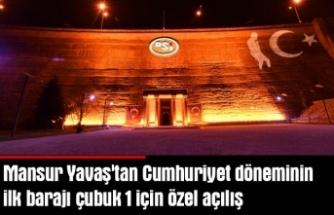Ankara'da bir tarih canlanıyor: Mansur Yavaş'tan Cumhuriyet döneminin ilk barajı çubuk 1 için özel açılış