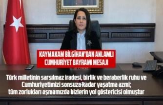 Kaymakam Bilgihan'dan anlamlı Cumhuriyet Bayramı mesajı
