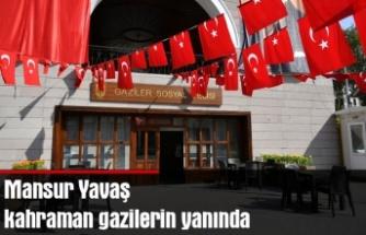 """Mansur Yavaş kahraman gazilerin yanında: """"Gaziler sosyal tesisi"""" 29 ekim Cumhuriyet bayramında açılıyor"""