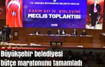 Büyükşehir belediyesi bütçe maratonunu tamamladı