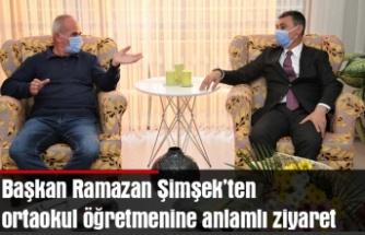 Gölbaşı Belediye Başkanı Ramazan Şimşek ortaokul öğretmeniyle buluştu…