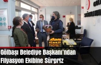 Gölbaşı Belediye Başkanı'ndan Filyasyon Ekibine Sürpriz