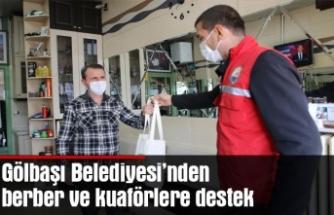 Gölbaşı Belediyesi'nden berber ve kuaförlere destek