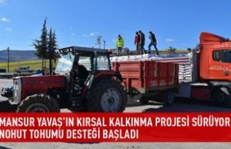 Kırsal kalkınma kapsamında nohut tohumu desteği başladı