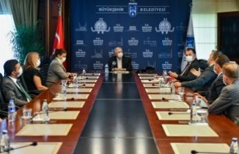 Ankara Kent Konseyi, Başkan Yavaş ve Belediye Meclisi Gurup Başkan Vekillerini ziyaret etti