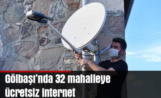 Gölbaşı'nda 32 mahalleye ücretsiz internet