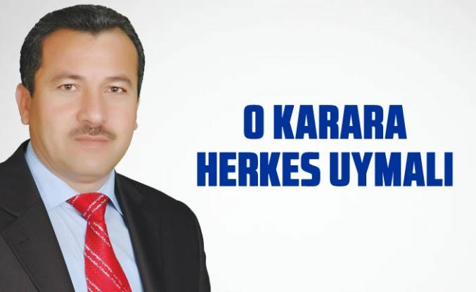 Mehmet Aktay : 'Karar sağlığımız için alındı'
