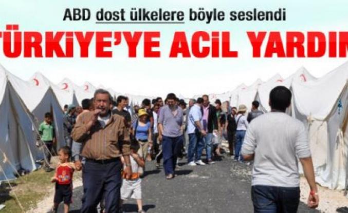 ABD'den Türkiye için acil yardım çağrısı
