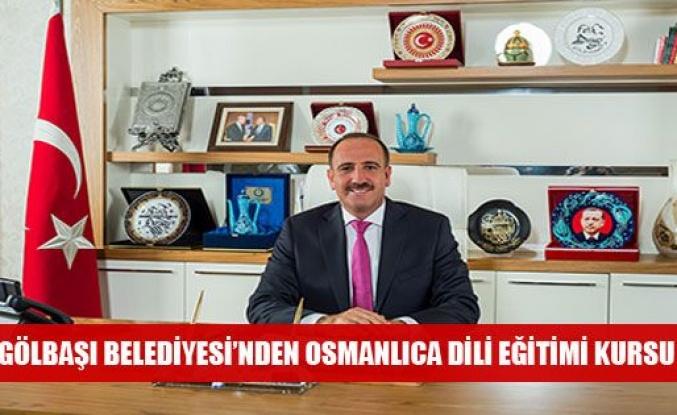 Gölbaşı Belediyesi'nden Osmanlıca Dili Eğitimi Kursu