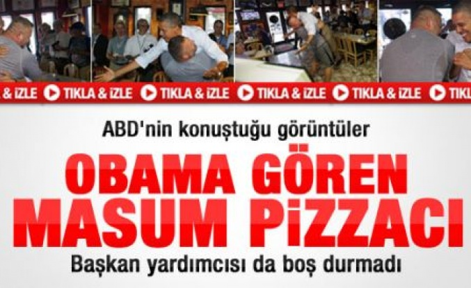 Pizzacı Obama'yı böyle kucakladı - Video