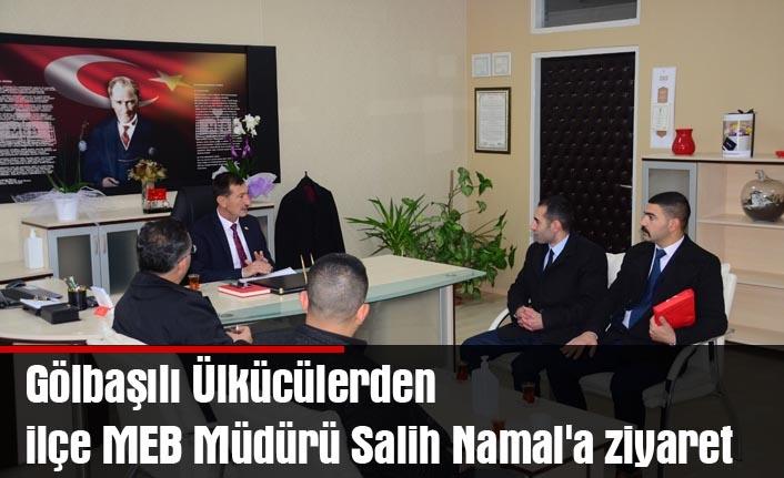 Gölbaşılı Ülkücülerden ilçe MEB Müdürü Salih Namal'a ziyaret